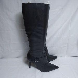 Ralph Lauren Knee High Heel Leather Boots